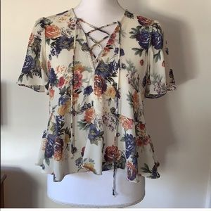 Kimchi Blue Floral Judy Top